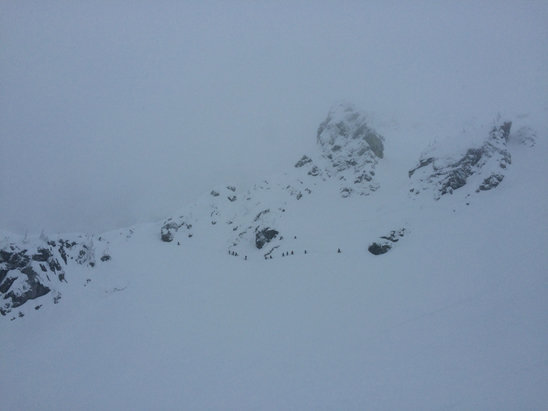 Revelstoke Mountain Resort - Upper North Bowl at Revy opened! - © Charles Wood's iPhone