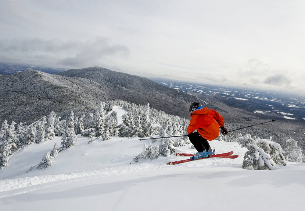 Freeskier at Smugglers' Notch, Vermont