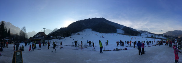 Kranjska Gora - A few lifts open, hard packed snow 