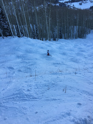 Purgatory - My daughter going down Styx two days ago, great snow! - © John's Laptop's iPhone