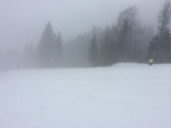 St. Johann i.T. - Oberndorf - Conditions have now deteriorated to ice and fog on the slopes    - © Barry's Iphone