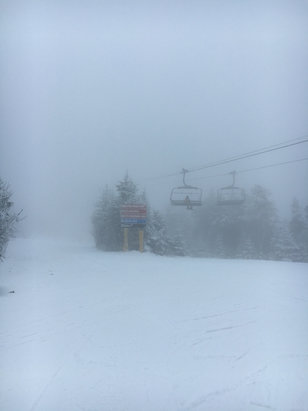 Stratton Mountain - Some nice snowfall in the morning/ early afternoon, good trails. terrible visibility mid mountain and up. Not bad for a holiday weekend overall  - ©kayla