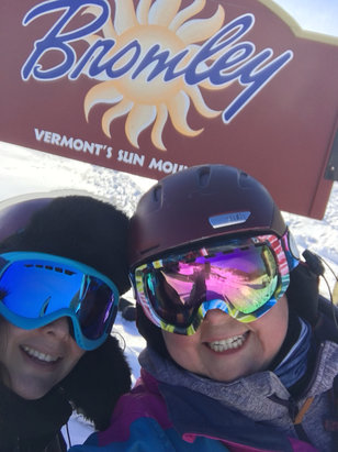 Bromley Mountain - So sunny. So much fun.  Best day ever!!! - © iPhone