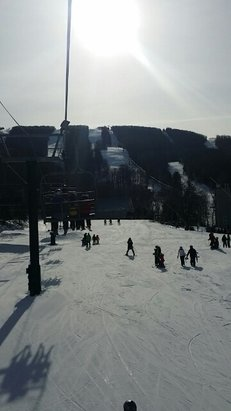 Jiminy Peak - Awesome day today on the hill, the snow was soft and surprisingly they had a very good base.  - © Eric