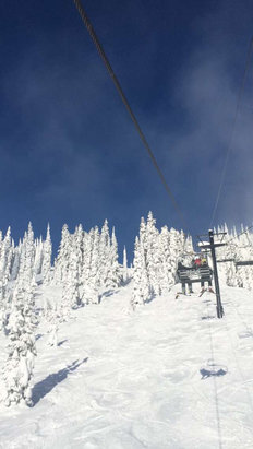 Stevens Pass Resort - Break in the clouds on southern cross Sunday morning  - © Randall