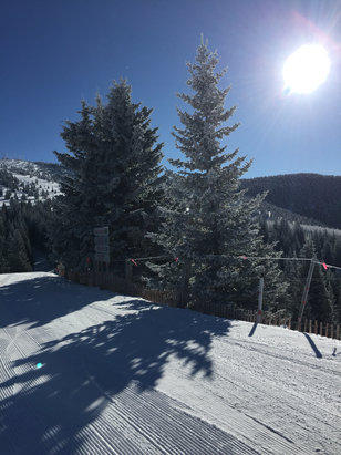 Ski Santa Fe - Great day.  Sunny and cold.  No wind.  Snow was nice.   - © Michael Bouvet's iPhone