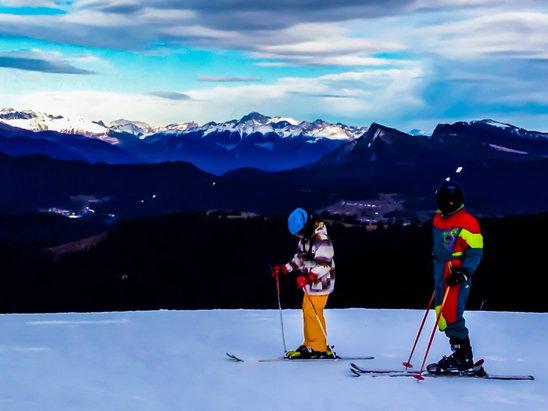 Folgaria - Neve artificiale, ma su scia bene. A Folgaria ci tengo ai propri clienti.. - © iPhone di Daniel