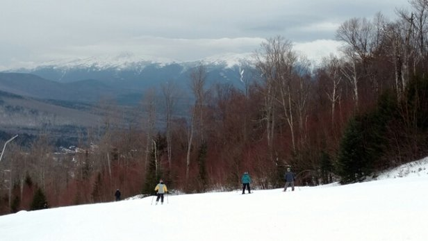 Bretton Woods - Great day today at the Woods!  Decent conditions with only a few icy spots, but mostly soft carving snow.  Moderate lines at lifts.   - © svense41