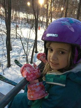 Bear Creek Mountain Resort - First chair ride today for my 6 year old.  Great mountain for teaching little ones.  - © Owner's iPhone