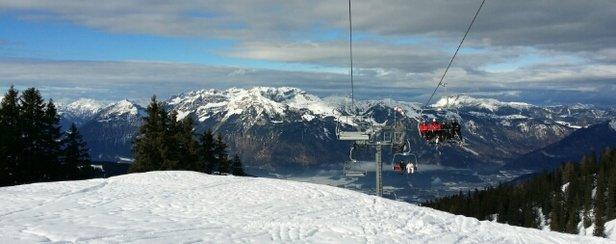 Ski Juwel Alpbachtal Wildschönau - Tolles Wetter,  leider zu warm,  der Schnee schmilzt zusehends  - © aldona.scherwa