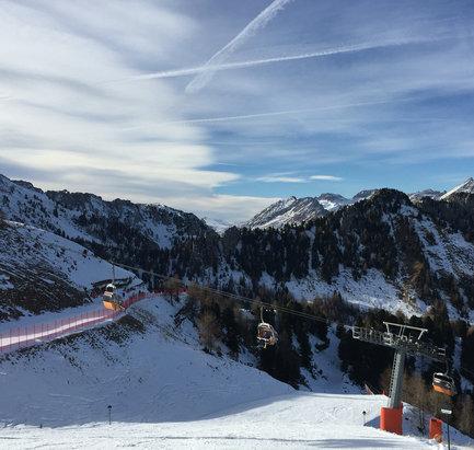 Vigo di Fassa - Pera - Ciampedie - Snowy slopes, no snowfalls for a long time  - ©iPhone
