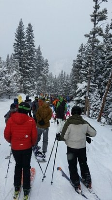 Eldora Mountain Resort - Holy smokes that's a line.  It actually went pretty quick but it felt like half the front range was at Eldora thus a.m. - © fruend50