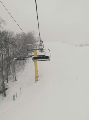 Shanty Creek Resorts – Schuss Mountain - Went in the afternoon today until it closed at 4:30 got a lot of runs in. Started snowing in the last hour and didn't let up. - © T-Swift