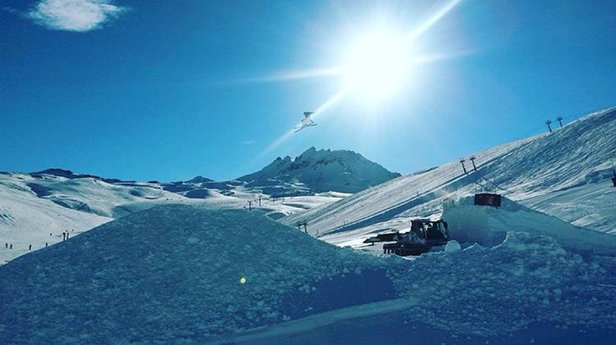 Val d'Isère - Craig, this is off the Val D'Isere snowparks Instagram, so I would say pretty good!