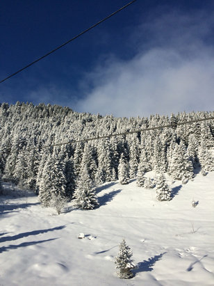 Meribel - Massive dump yesterday, excellent conditions and blue sky's all the way   - © ronnie's iPhone 5s