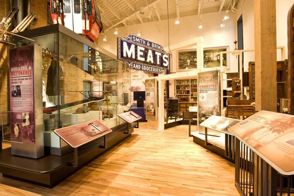 Interior of Park City museum.