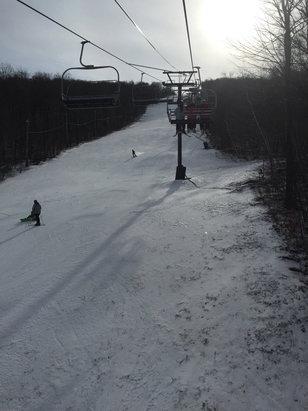 Jiminy Peak - Excellent. Finally solid east coast skiing!  - © Kyle Widrick's iPhone