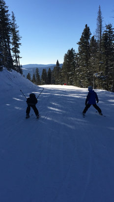 Angel Fire Resort - Perfect ski conditions today's.  Packed powder and small lines.   - ©Bogie