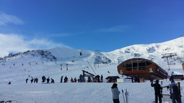 La Toussuire - Très bon dans l'ensemble, neige glacée par endroits, manquante en bas du domaine.  - © toto73