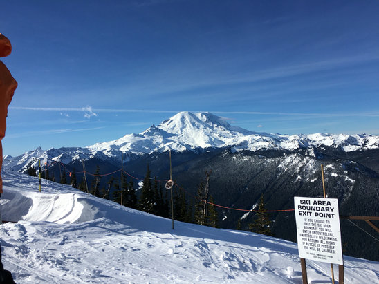 Crystal Mountain - A little skied out by the end of the day, and also a little warm today. Beautiful clear skies though! - © wjboh