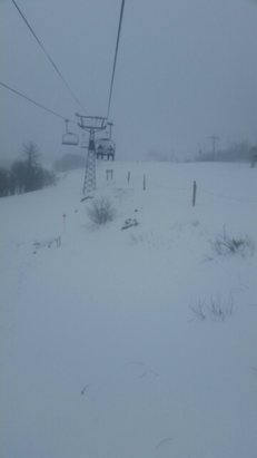 Beech Mountain Resort - snow coming down and no lines. make it if you can. - © ted.davis3