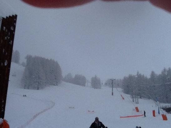 Val d'Allos - La Foux - Il neige, encore et encore !     - © nadine06