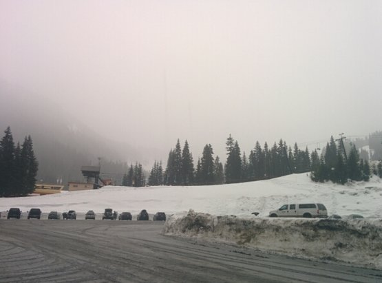 Stevens Pass Resort - Very wet. Sleet. I don't feel like getting out of the car.  - © Daniel