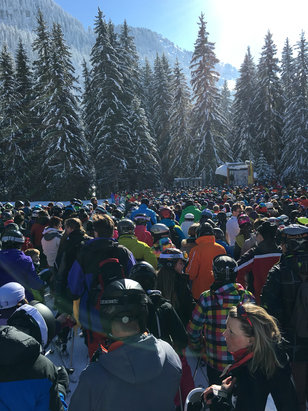 Samoëns - Good conditions today but the resort is let down by ridiculous queues.   - © Darren's iPhone (4)