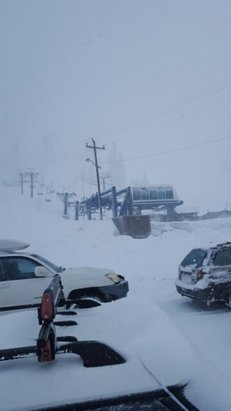 Donner Ski Ranch - 9:45 and the not a single lift open. kinda windy, put looks to be a great storm day!  - ©nickoliver32