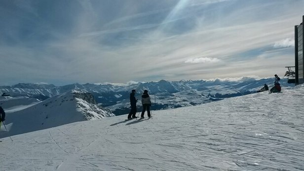 Laax - sunny and bright yesterday