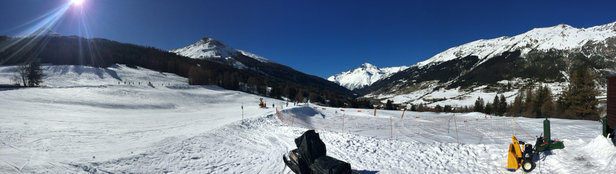 Val Cenis Vanoise - Perfect but thaw an early thaw is on today - © Trev's iPhone 6