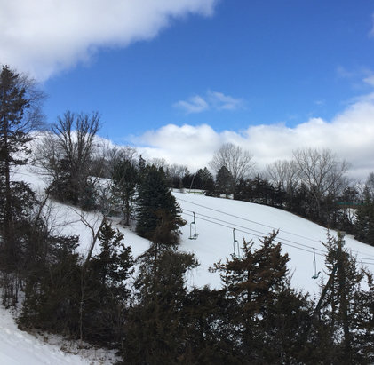Mount Kato Ski Area - Yes! There is still lots of snow here. Excellent spring skiing. - © family of regulars
