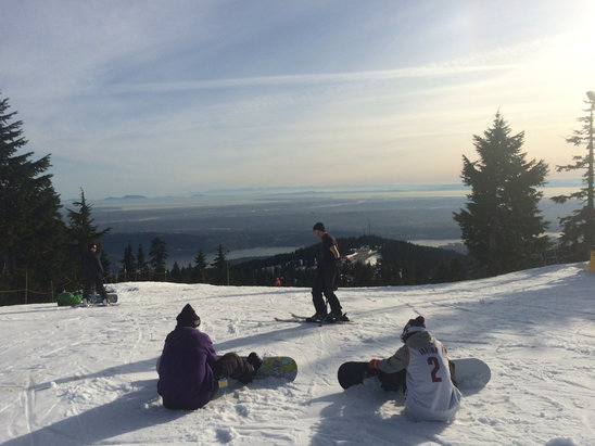 Mt Seymour - Went yesterday, visibility was amazing. Snow was hard packed and we ran into almost no ice during the whole 8 hours we were there. Gotta love spring skiing. - © keatonlawlor