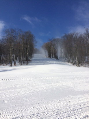 Belleayre - Still making some snow this morning.  Great blue sky day  - ©Rich's  iPhone
