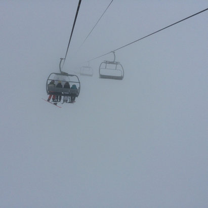 Fernie Alpine - Was a bit of a foggy day on Saturday Feb 27 but man was the snow great!  - © Toni's Phone