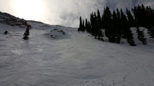 Crested Butte Mountain Resort - Tough sledding in the AM. Softens up mid day on the groomers and a few of the faces but the expert terrain is largely unskiable with rocks and boilerplate. - © boomdog
