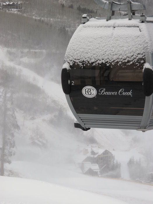 A winter storm delivered fresh snow overnight at Beaver Creek and the cold temperatures today (Wednesday) are perfect for snowmaking on the lower portion of the mountain. Credit: Beaver Creek Resort