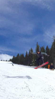 Ski Santa Fe - Great once it warms up! - © Matt Clarke's iPhone