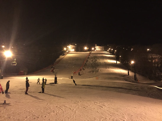 Bristol Mountain - Great times tonight. There's ice under so don't fall. Lol.  - © Damion's iPhone (2)