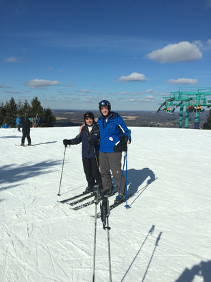 Elk Mountain Ski Resort - Great day Sunday. Best ski day in PA this year, no lines, sun, and snow perfect - © John's iPhone
