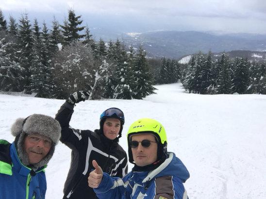 Schia Monte Caio - Schia rimane sempre una grande palestra !! Le Marne molto bella , in generale tutto sciabile e godibile per gli sciatori veri. - © iPhone di Igor
