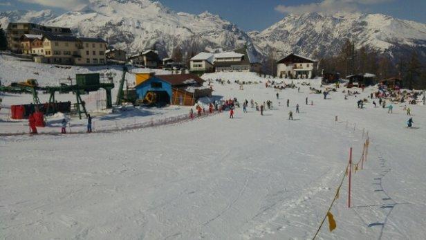 Pian del Frais di Chiomonte - Impianti aperti, neve farinosa - © gabriele