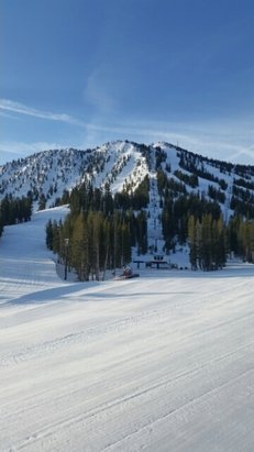 Mt. Rose - Ski Tahoe - Today,spring skiing,nothing but sun.corn beef & cabbage at WCL party on the deck! - © sevenofnevada