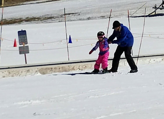 Arizona Snowbowl - Icy am and slushy pm... Not bad but not much time left. Dress coolly.. My grand daughter had a blast during her lesson. - © Jim's iPad