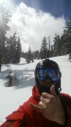 Squaw Valley - Alpine Meadows - Still a lot of fresh pow if you know where to go.. - ©blackholeraiderjohn