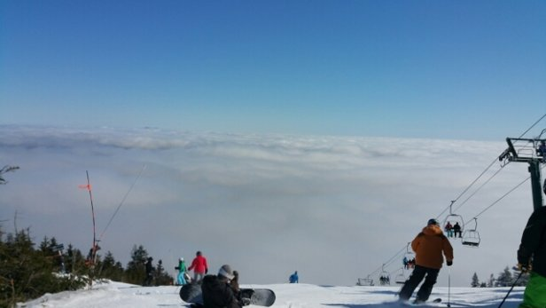 Sugarbush - Beautiful day at Sugarbush.  The morning we got to look down on the clouds from Heavens Gate.  Good corn skiing to be found in the afternoon.   - © jim.gable1378