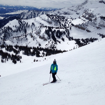 Jackson Hole - Great snow in Rendezvous Bowl yesterday!  - © Philip Frank's iPhone