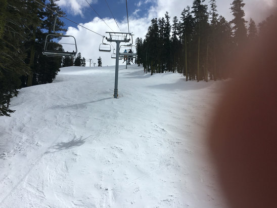 "Sierra-at-Tahoe - better skiing on Baja Grill side. < 1"" powder but still fun skiing.  - © ??Tahoe"
