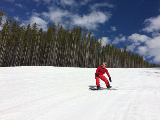 Lookout Pass Ski Area - Spring Snow last Saturday! - © Amy