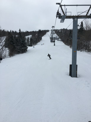 Mont Sainte Anne - Excellent!! Given the year the East Coast experienced for snow fall, we are lucky to be able to enjoy such nice conditions! The accommodations are great staying here at the Nordik!  Skiing again tomorrow and can't wait! - © Douglas's iPhone